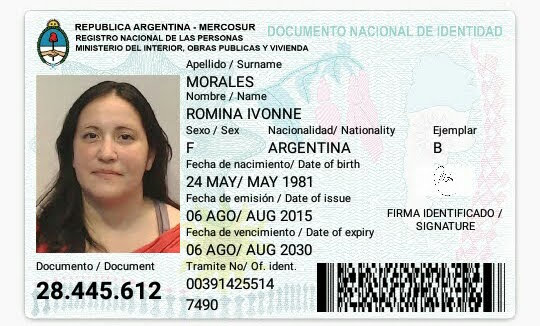 Imagen de ambas caras del DNI, Libreta Cívica o Libreta de Enrolamiento del Solicitante o Apoderado.